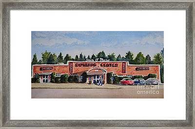 Bowling Center Framed Print by Andrea Timm