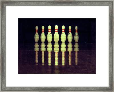 Bowling Pins Framed Print by Christoph Hetzmannseder