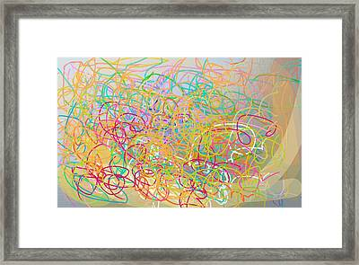 Bows And Flows Of Angel Hair Framed Print by Naomi Jacobs