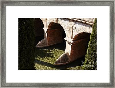 Bows In River Framed Print