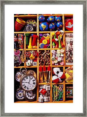 Box With Compartments Framed Print by Garry Gay