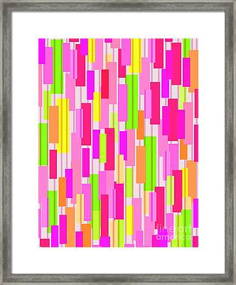 Boxed Stripe Framed Print by Louisa Knight