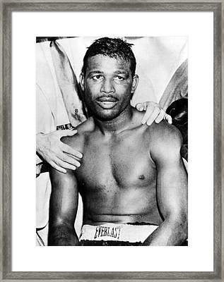 Boxer Sugar Ray Robinson, 1921-1989 Framed Print by Everett