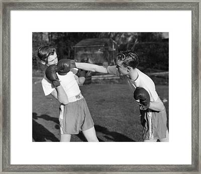 Boxer Twins Framed Print by Greated