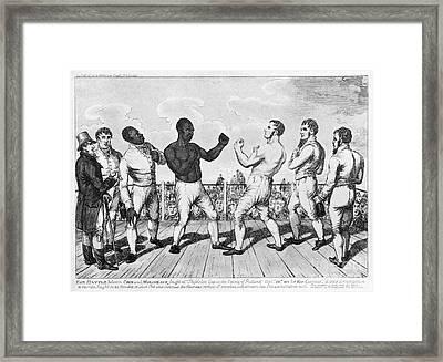 Boxing: Cribb V. Molineaux Framed Print by Granger