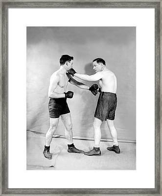 Boxing Demonstration Framed Print by Topical Press Agency