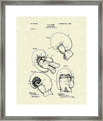 Boxing Glove 1898 Patent Art Framed Print