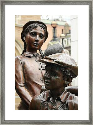 Boy And Girl In Wartime Framed Print