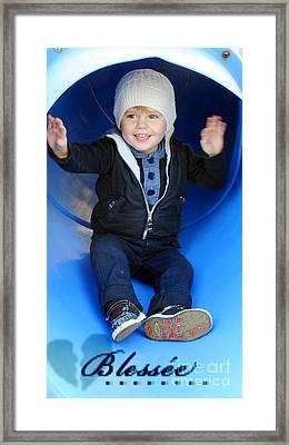 Boy I'm So Happy..... Framed Print by Karen Lewis