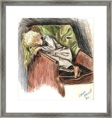 Boy In Chair Framed Print