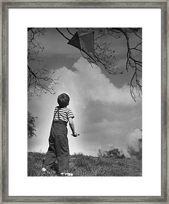 Boy Outdoors Framed Print by George Marks