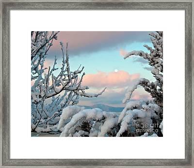 Boyd Lake Winter Sunrise Framed Print by Harry Strharsky