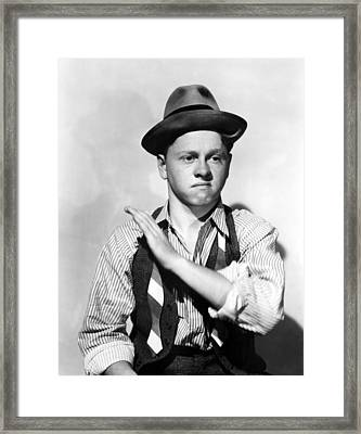 Boys Town, Mickey Rooney, 1938 Framed Print