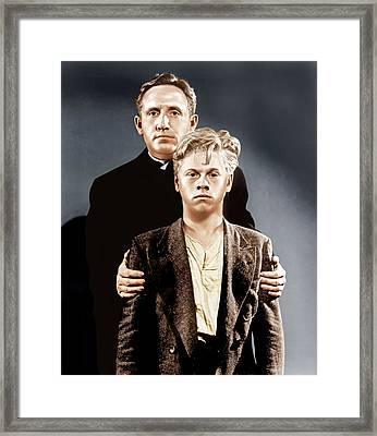 Boys Town, Top To Bottom Spencer Tracy Framed Print by Everett