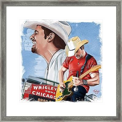 Brad Paisley Framed Print