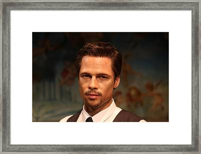 Brad Pitt - William Bradley Brad Pitt - Actor-  Framed Print by Lee Dos Santos