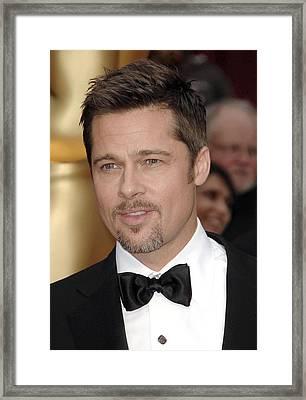 Brad Pitt At Arrivals For 81st Annual Framed Print by Everett