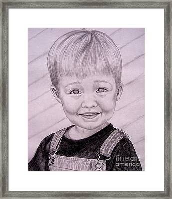 Framed Print featuring the drawing Brady by Julie Brugh Riffey