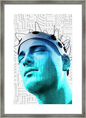 Brain Circuit Framed Print