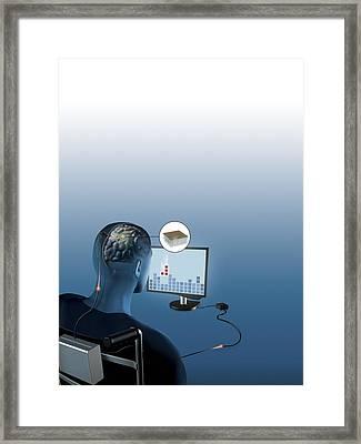 Brain-computer Interface, Artwork Framed Print by Claus Lunau