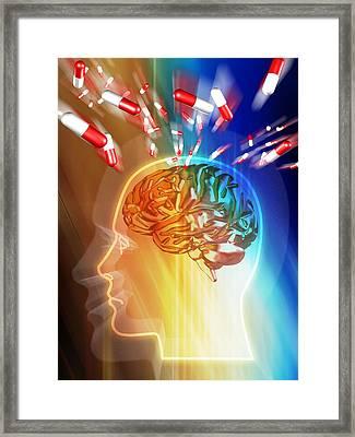Brain Drug Framed Print by Pasieka