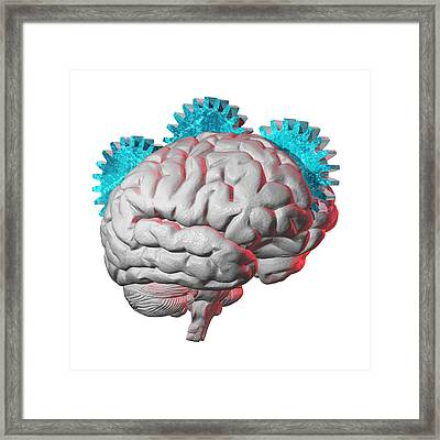 Brain Function, Conceptual Artwork Framed Print by Laguna Design