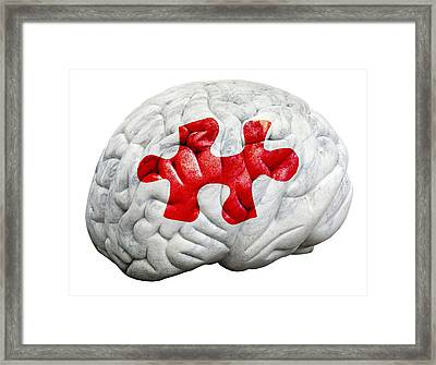 Brain Function, Conceptual Framed Print by Victor De Schwanberg