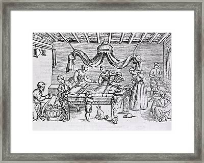 Brain Surgery In The 16th Century.  A Framed Print by Everett