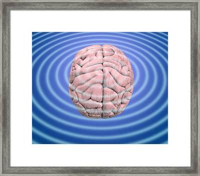 Brain Waves, Conceptual Image Framed Print by Victor De Schwanberg