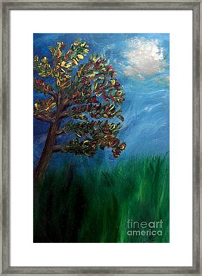 Framed Print featuring the painting Branched Impressions by Ayasha Loya