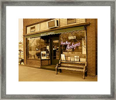Framed Print featuring the photograph Brant's Market by Steve Sperry