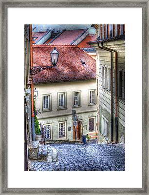 Bratislava. As The City Sleeps Framed Print by Juli Scalzi