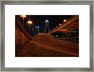 Bratislava Tower Framed Print by Barry R Jones Jr