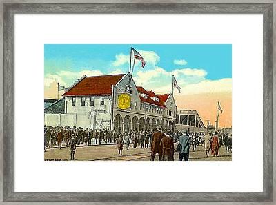Braves' Field In Boston Ma In 1917 Framed Print by Dwight Goss