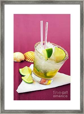 Brazilian Cocktail Framed Print by Carlos Caetano