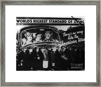 Bread Line Framed Print