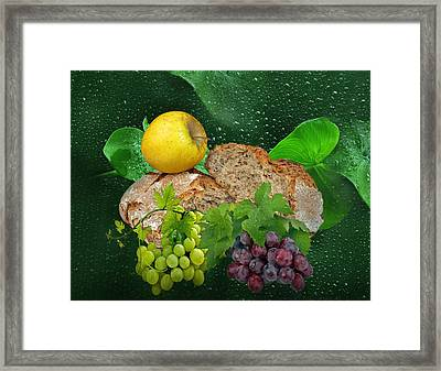 Bread Framed Print by Manfred Lutzius