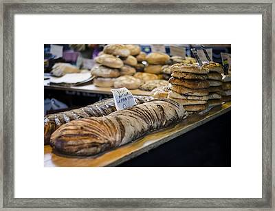 Bread Market Framed Print by Heather Applegate