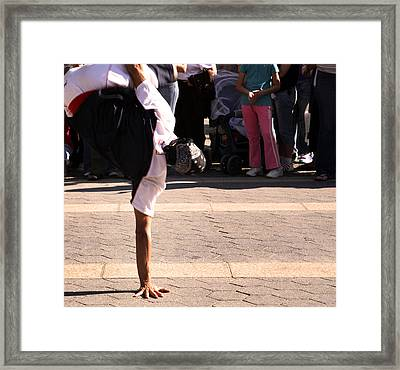 Framed Print featuring the photograph Break Dancer by David Harding