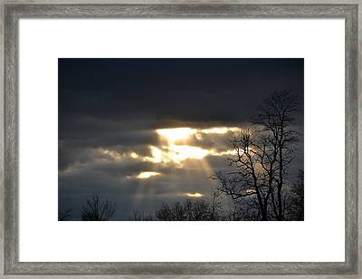 Break In The Clouds Framed Print by Bonnie Myszka