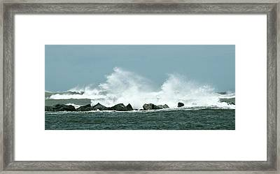 Breakers Framed Print by Don Youngclaus