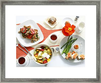 Breakfast Dishes On Table Framed Print by Cultura/BRETT STEVENS