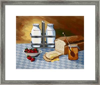 Breakfast Framed Print by Jennifer  Donald