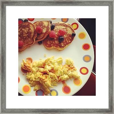 #breakfast #pancake #pancakes #jonspics Framed Print