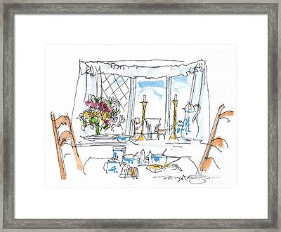 Breakfast Window Framed Print