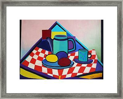 Breakfast With Eggs Framed Print by Karin Eisermann