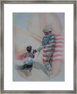 Breaking Borders Framed Print by Joanna Gates