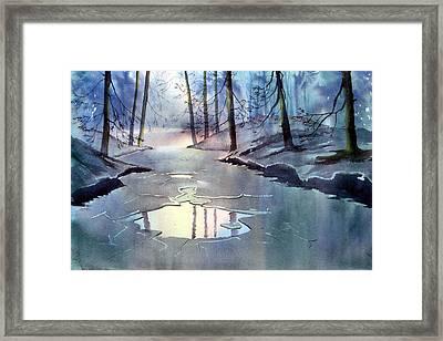 Breaking Ice Framed Print