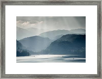 Breaking Through The Mist Framed Print