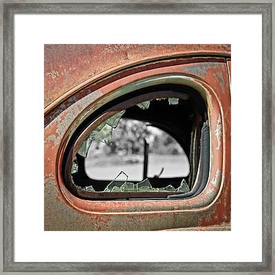 Breaking Through Time Framed Print by Steve McKinzie